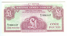 Vintage One Pound, British Armed Forces Special Voucher Note, 4th Series
