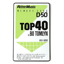 Rittor Music KV-502 TOP 40 BO TOMLYN ROM card for ROLAND D-50 D-550 synthesizer