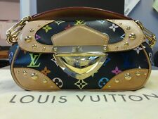 Louis Vuitton Black Multi-Color Monogram Marilyn Hand Bag Purse