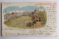 CPA. VIEUX PARIS. Exposition Universelle de 1900.Ajout de paillettes Translucide