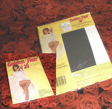 GOLDEN FLAIR Dessous NYLON Feinstrumpfhose 42-44 anthrazit 20den 70s VINTAGE