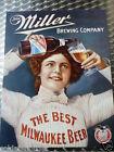 Miller Beer Bier - Schild Blechschild Blechreklame 40 x 31 cm - 977