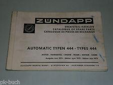 Ersatzteilliste Ersatzteilkatalog Zündapp Mofa Moped Automatic 444 Stand 06/1973