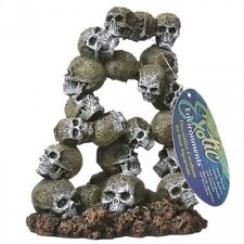 BLUE RIBBON Archway Skull  - Small Aquarium Ornament  EE-439