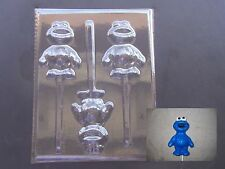Baby Cookie Monster Sesame Street Lollipop Chocolate Candy Soap Crayon Mold