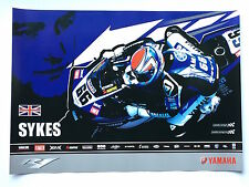 Tom Sykes Unsigned Yamaha R1 Poster Rare SBK.