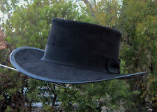 BLACK SUEDE LEATHER BUTCH CASSIDY & THE SUNDANCE KID ROBERT REDFORD MOVIE HAT