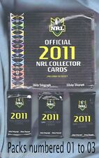 UNOPENED  2011 NRL TELEGRAPH NEWSPAPER RUGBY LEAGUE CARD PACKS & ALBUM