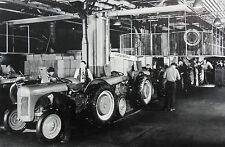 "Ford Tractor assembly Line (believed to be 9N's) 12X18"" Black & White Picture"