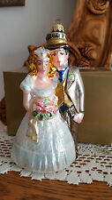 Komozja  Mouth Blown Glass Bride & Groom   Just Married    NEW