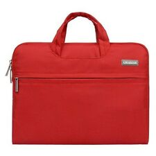 """Laptop Macbook Case 13"""" in Red Protective Carry Case lots of Storage"""