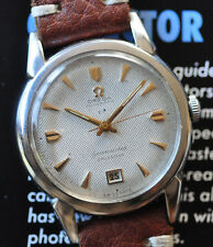 Vintage 1952 Omega Seamaster Watch Serviced Cal 353 Bumper Honeycomb Dial Date@6