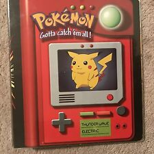 Pokemon 3-Ring Card Binder Pikachu Meowth..New