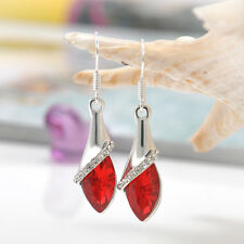 New Women's White Gold Plated Earring Crystal Drop Dangle Earring Hook Jewelry