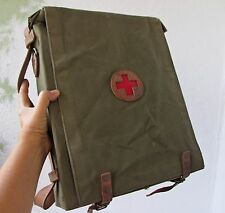 RARE WWII WW2 RUSSIAN MILITARY FIELD MEDIC FIRST AID KIT CANVAS BAG.. /3/