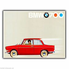 BMW 700 CAR Vintage Retro Advert AD METAL WALL SIGN PLAQUE poster print