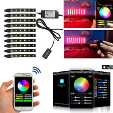 Motorcycle APP Control 60LED 10PC strip Light Kit Million Color Kit