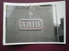 PHOTO  NUMBER PLATE FOR 28XX CLASS LOCO NO 3810