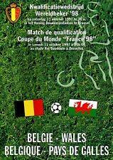 1997/98 Belgium v Wales, World Cup qualifier, PERFECT CONDITION