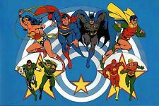 SUPER POWERS ALL-STAR TEAM Pin Up Poster DC GL GA WW