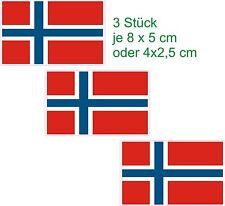 3 Fahnen Norwegen Flaggen Scheiben Aufkleber Auto Truck  Caravan Boot