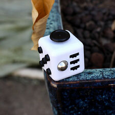 1PCs Stress Relief Fidget Cube Dice Gift For Family Adults Kids Black White