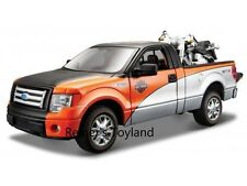 Maisto Modellauto Ford F-150 STX Pick-up 1:27 + Harley FLSTF Fat Boy 1:24 - NEU