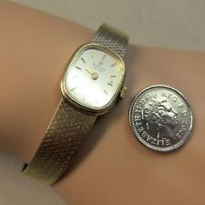 9 ct GOLD second hand ladies MARVIN bracelet watch