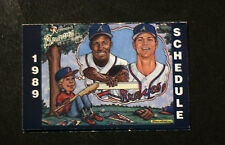 1989 Bud Light Richmond Braves Pocket Game Schedule