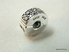 NEW! AUTHENTIC PANDORA CHARM SHINING ELEGANCE CLIP (1)  #791817CZ