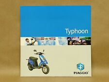 Piaggio Scooter Moped Typhoon Brochure Specifications Colors