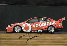 Jamie Whincup SIGNED 12x8, Vodafone Holden Commodore, Australian V8 Supercars