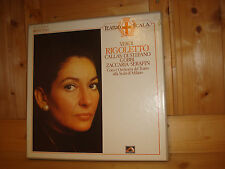 MARIA CALLAS at La Scala - Verdi Rigoletto SERAFIN EMI ELECTROLA 2 LP BOX MINT
