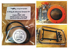 O-ring & Silicone Grease Kit for Casio EWC-140 Diving Underwater Housing Case
