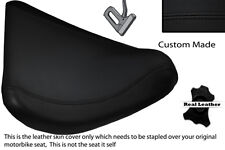 BLACK STITCH CUSTOM FITS BMW C1 125 200 FRONT RIDER LEATHER SEAT COVER