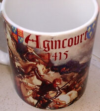 Battle of  Agincourt 1415 Henry V of England vs French  Tribute CERAMIC MUG