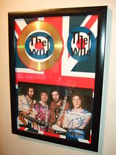 THE WHO SIGNED FRAMED GOLD CD DISPLAY 6