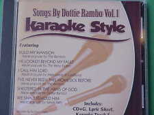 Songs by Dottie Rambo #1 Christian Daywind Karaoke Style CD+G New