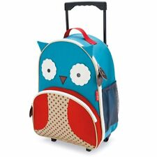 NEW Skip Hop Zoo Little Kid and Toddler Travel Rolling Luggage Backpack Owl