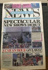 Vintage 1987 Walt Disney World News Newspaper - 15th Anniversary