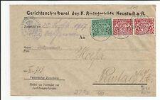 Bayern / Mi.-Nr. D18 + 26(2) / Dienst 7 1/2 + Paar 10 Pf. (re. ob. eckrund) als