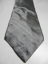 Bill Blass Modern Gray Geometric Print Silk Necktie