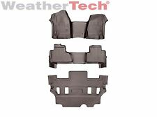 WeatherTech FloorLiner for GMC Yukon OTH w/ 2nd Row Bucket - 2015-2017 - Cocoa