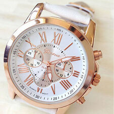New Women's Fashion Geneva  Faux Leather Analog Quartz Wrist Watch