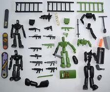 STIKFAS Military Action Figure Lot Alpha Weapons Guns Boards Ladders