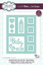 Sue Wilson SHADOW BOX COLLECTION New Arrival CED9307 12 Dies BABY Bottle Feet