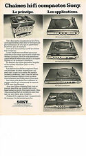PUBLICITE ADVERTISING 044   1975   SONY   hi-fi    chaines compactes