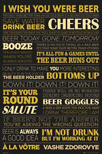 BEER LIFE POSTER - 24x36 QUOTES TERMS CHEERS BAR DRINKING TOAST LIST 33914
