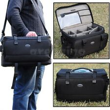 Large Professional Photography Digital DSLR Cameras Insert Backpack Shoulder Bag