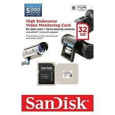 SanDisk 32GB Alto Endurance Video Monitering microSDHC card con adattatore